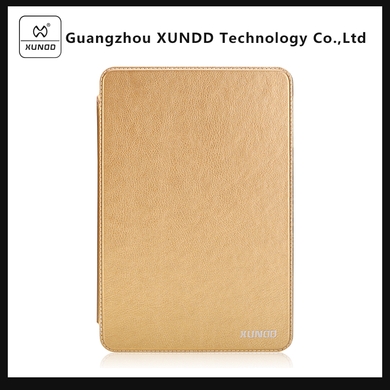 XUNDD Business Style Encore Series Golden Flip Wallet Leather Case Cover for Apple iPad Mini