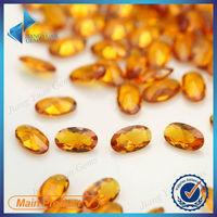 Oval synthetic yellow topaz gemstone price