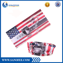 Aliaba wholesale Sublimation printing bandana Tie dye 100% polyester microfiber seamless multifunctional outdoor sport headwear