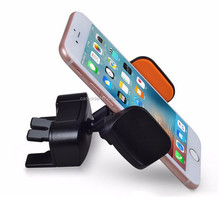 360 Rotating Smart Phone Adjustable Car CD Player Slot Mount Stand Holder for Samsung S7