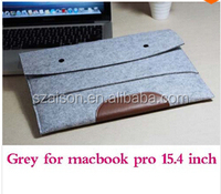 "Free Shipping Gray Woolen Felt Envelope Laptop Sleeve Bag Case Skin For MacBook Air Pro 11""13"" 15"""