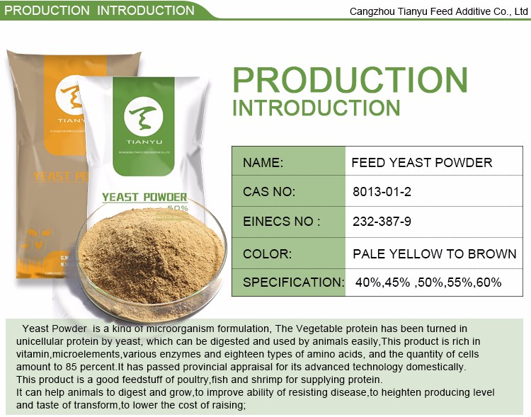 Poultry Feed Additive 60% Protein yeast powder