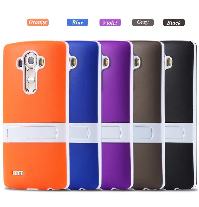business manufacturing light weight with stand TPU mobile phone case for lg g4