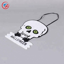 2018 fashion decoration products felt skull for halloween