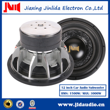 "Trade assurance 1500w rms power JLDAudio china 12"" car audio subwoofer"