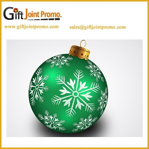 Promotional Cheap Plastic Christmas Ball for Three Ornament