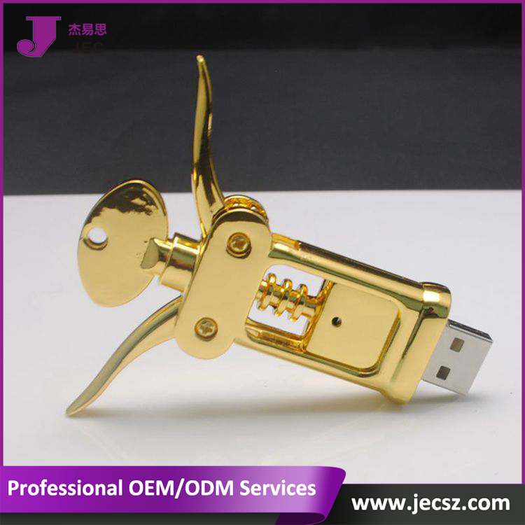Red Wine bottle opener 2.0 usb pendrive Model:JEC-281
