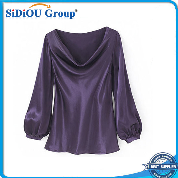 2015 elegant fashion blouse design silk blouses for fat