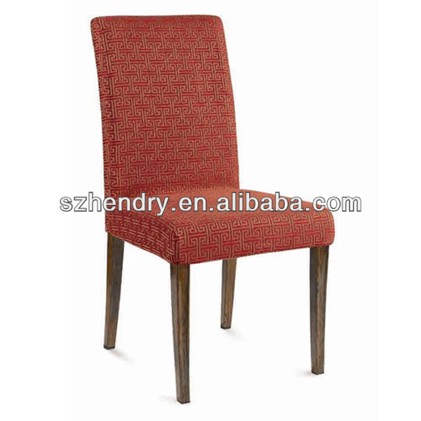 high back wooden restaurant furniture / hotel dining chair
