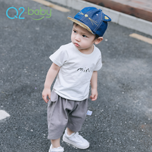 Q2-baby Infant Summer Wear Clothes Custom Printing T Shirt With Short Sleeve