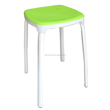 Fashion colorful bed foot stool with plastic