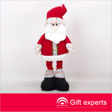 Top quality popular 18'' cloth standing santa clause