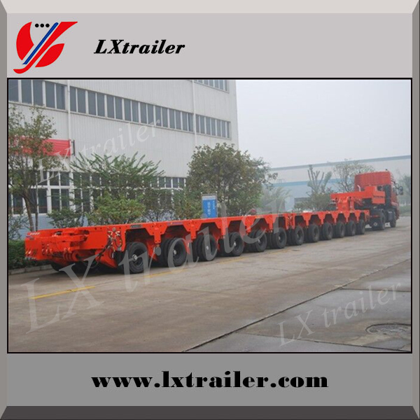Heavy duty special multi axles hydraulic axle platform semi trailer for sale