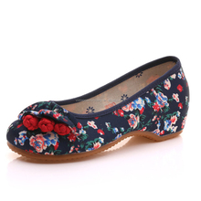 Women Shoe 2018 New Stylish Chinese Embroidery Flower Thick Sole Casual Latest Girls Canvas Shoes