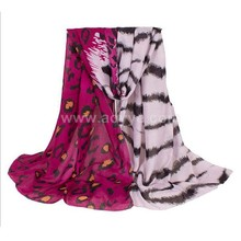 Wholesale wine red leopard water ripple twill fabrics of cotton thickening high quality printed scarf