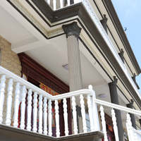 chinese supplier and european style of interior aluminum stair railing,balcony screen mesh,balcony guarding mesh