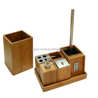 Modern Fashion Style Bamboo Bathroom Set