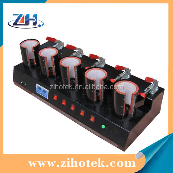 High quality 5 heating mats mug press machine