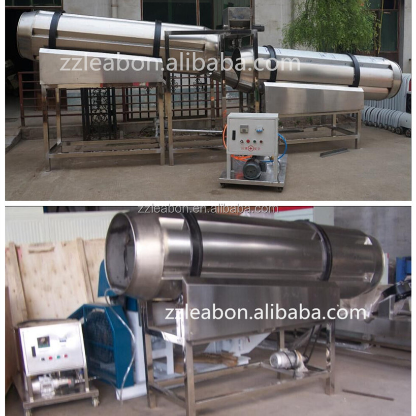 Manufacturer Supply Automatic Single Roller Drum Floating Fish Feed Flavoring Machine