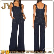 Europan Hot Style Wide-leg Pants Jumpsuit Women's Denim Jumpsuit 2015 Autumn Korea Latest Women'S Jumpsuits Loose Casual Pants