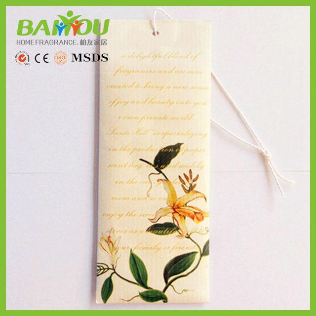 2015 most popular items garderobe aroma paper fragrance sachet