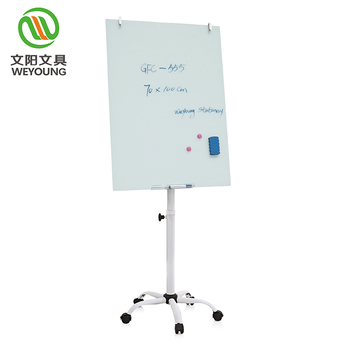 multifunctional glass mobile writing flip chart easel  with magnetic