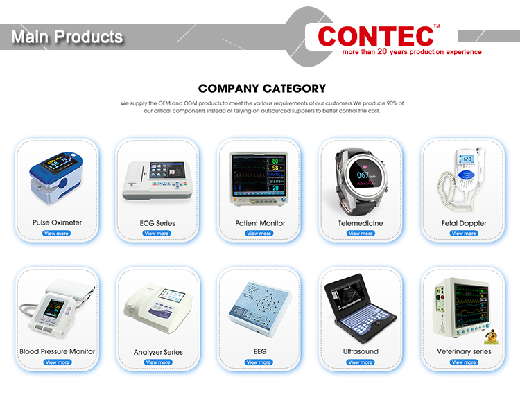CONTEC PM10  LCD USB Cloud Bluetooth Handheld ECG/EKG Heart Monitor
