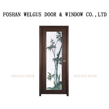 High quality low price swing pvc kitchen door