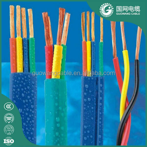 3 Core 4 Core Electric Cable Submersible Flat Pump Cable Deep Well Pump Cable