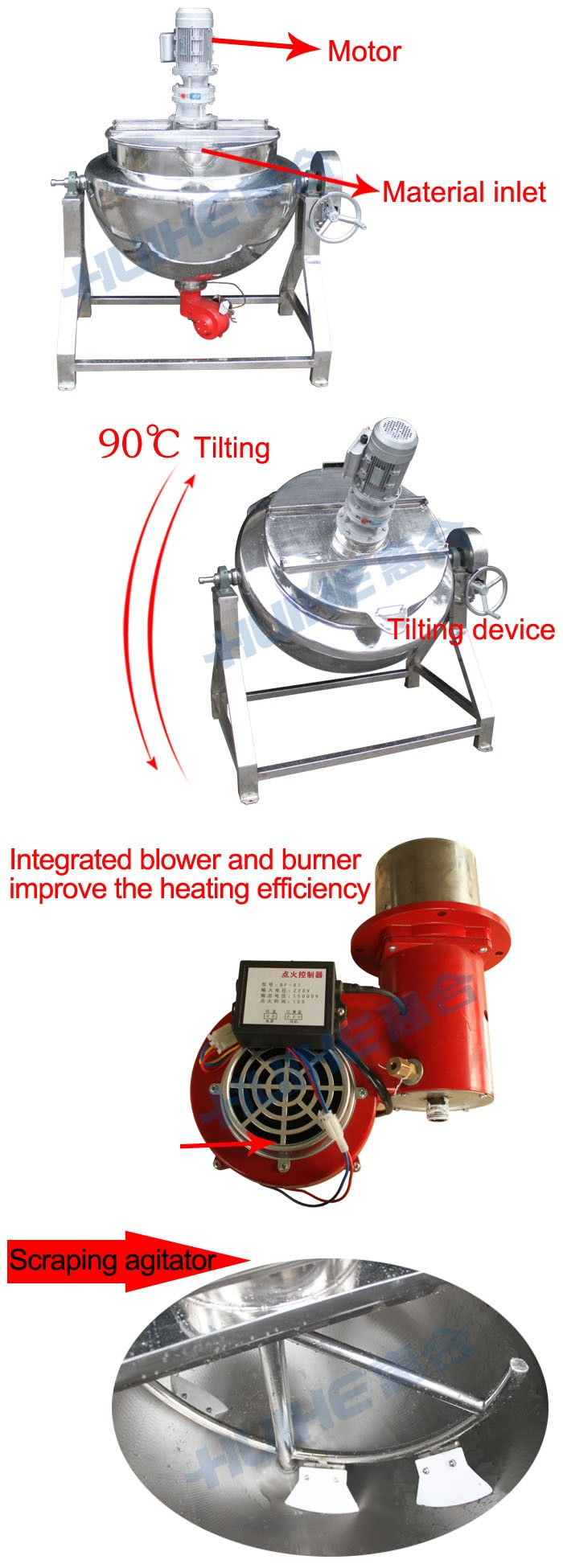 Top Quality Food Mixer Heated/steam Jacketed Kettle/industrial ...
