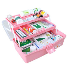 wholesale plastic small family travel camping auto safety madical first aid kit for travel