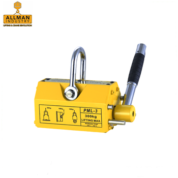 China supplier ALLMAN magnetic steel plate lifter with cheapest price 100kg 300kg 500kg 1000kg