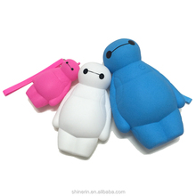 Lady's Wallet Baymax purse cartoon doll female student key pen holder silicone zipper pencil bag