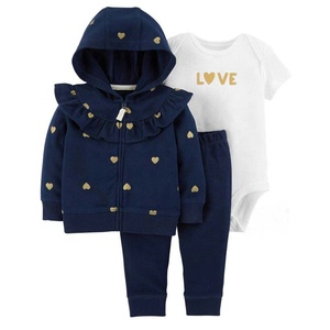 Wholesale Winter Outwear Little Jacket Set Long pants Boutique Boy Baby Clothes Set