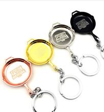 Zooying customized new games PUBG metal pan keychain