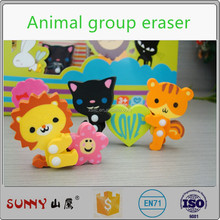 Lovely animal shape eraser for children