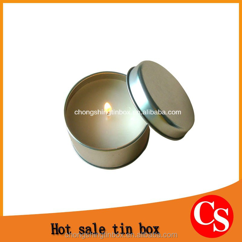 Custom round tin box /tin can boxed packaging for candles