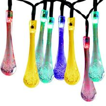 Colorful LED solar fairy lights, commercial Grade String Lights, led outdoor solar string lights