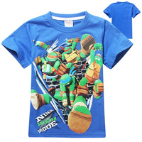 Cotton T-shirt Wholesale Factory In China Printing T-shirts 2015 Summer Ninja Turtles
