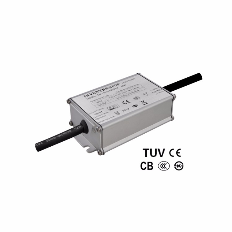 CE CB KS Inventronics 60W 54-109Vdc IP67 550mA Single Constant Current LED Lights Driver High Power Supply EUC-060S070SVM0003