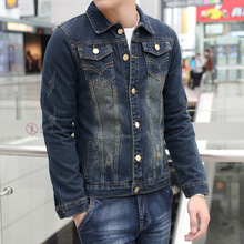 New Style Cotton Patches Design Men Slim Denim Buttons Jean Jacket