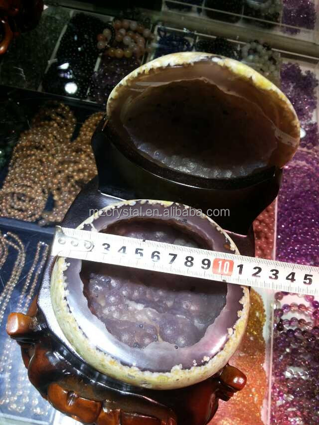 Wholesale high quality natural fantastic cornucopia agate crystal geode