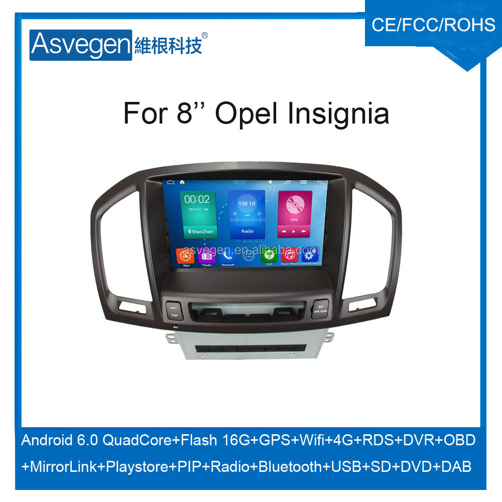 Wholesale Android Car DVD Player for 8'' Opel Insignia Navigation Car DVD GPS Support Playstore,4G,WIFI