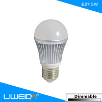 Home use ledbulb E27 ledbulb light 5W,3 way led light bulb