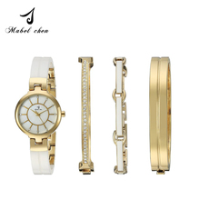 Fashion Female Waterproof Fancy Dress Girls Lady Women Quartz Wrist Bracelet Watches 2017 New OEM Gift Wrist Watches Gift 4 Sets