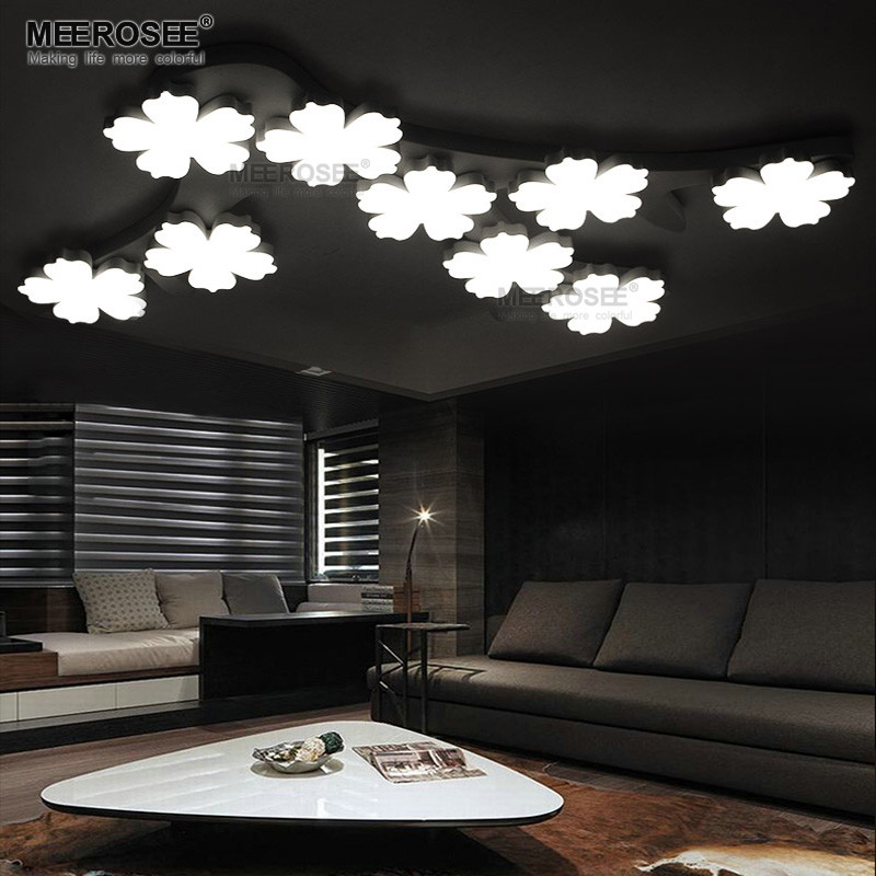 Art Deco Flower Ceiling Lamp LED Acrylic Flush Mounted Lamp MD83079