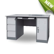 double side steel desk office folding metal tables computer table