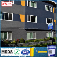 Self cleaning elastic paint for exterior wall