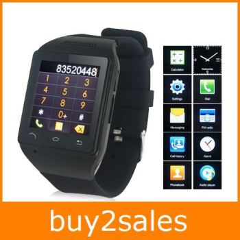 "2014 New Sales S18 Smart Watch 1.54"" Touch Screen 8GB Bluetooth 3.0 Single SIM Micro USB V2.0 MP3 GSM GPRS Dial Messaging Alarm"