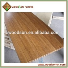 Walnut Color click Handscraped Strand Woven Solid Bamboo Flooring